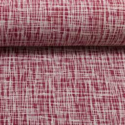 Vera Criss Cross Bordeaux Cotton Jersey Fabric