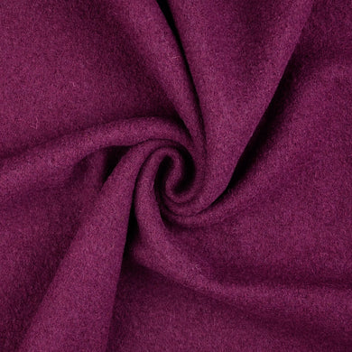 New Plum Pure Boiled Wool