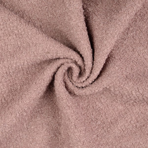 Dusky Pink Boucle Wool Blend