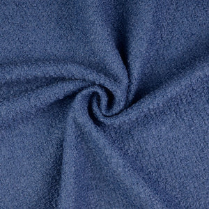 Jeans Blue Boucle Wool Blend