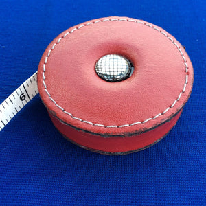 Sew Delicious Retractable Red Leather Tape Measures