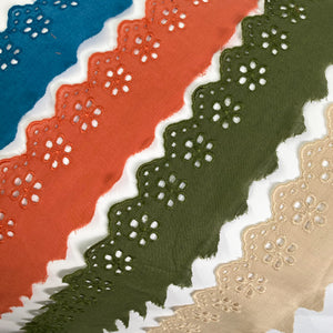 Eyelet Embroidered Lace 50mm