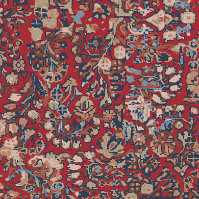 Art Gallery Treasured Kermes Rayon Challis 1m