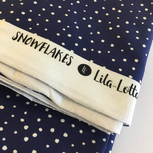 Snowflakes by Lila Lotta Cotton Jersey Fabric