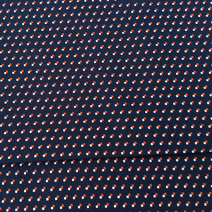 Navy Spot Cotton Print