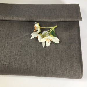 Piper Viscose Linen Dressmaking Fabric Anthracite 0.75m