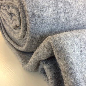 New Melange Grey Pure Boiled Wool