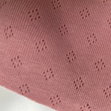 Rose Pointelle Cotton Knit Fabric