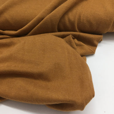 Heather Viscose Jersey Fabric Ochre