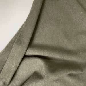 Heather Viscose Jersey Fabric Olive