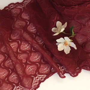 Merlot Wide Stretch Lingerie Lace