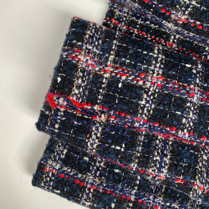 Boucle Wool Blend Dark Navy