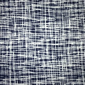 Vera Criss Cross Navy Blue Cotton Jersey Fabric