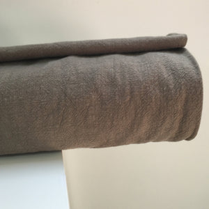 Sandwashed Textured Ramie Dressmaking Fabric Light Olive
