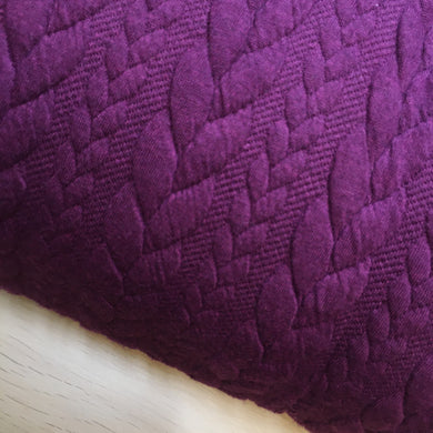 Aubergine Heavy Cable Knit Jersey