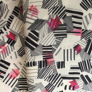 Piano down the stairs Viscose Viella Print