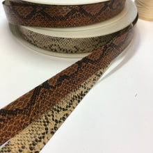 Textured Faux Snake Leather Bias Binding 20mm