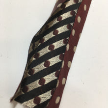 Fancy Couture Woven Bias Binding  Dark Red Spots 20mm