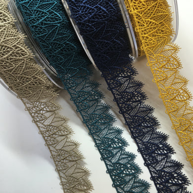 Leaf Tulle Lace 32mm