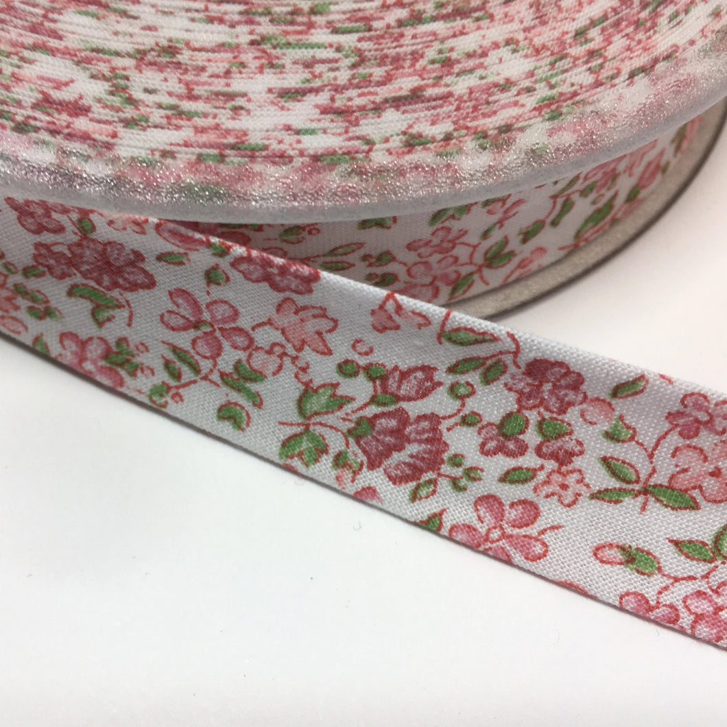 Floral Cotton Bias Binding 20mm