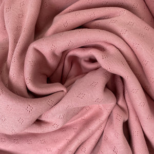 Pointelle Rose Cotton Lace Knit Fabric