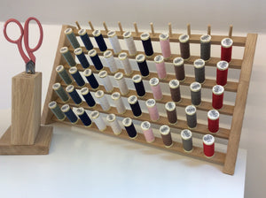 Freestanding Oak Thread Storage Rack