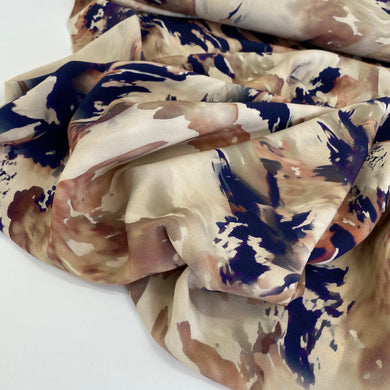 Atelier Jupe Ivory Marble Print Viscose