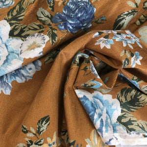 Lady McElroy Floral Renaissance Stretch Cotton Corduroy