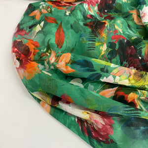 Lady McElroy Abstract Blooms Cotton Silk Voile