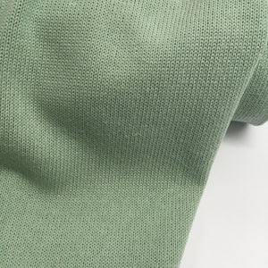 Baby Sweater Knit Seafoam Green Fabric 0.55m