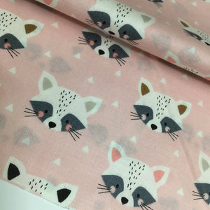 Dashwood Studio Geo Forest Raccoon Cotton Fabric by Wendy Kendall 2.25m