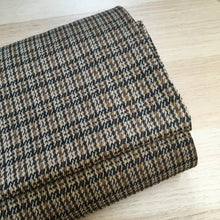 Camel Checked Double Knit Fabric