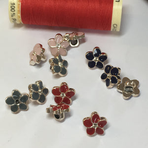 Rhinestone Flower Buttons