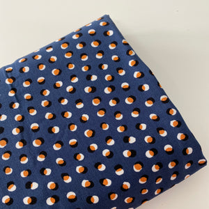 Spots on spots Airforce Blue Viscose Twill