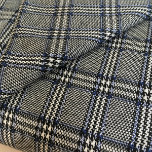 Prince of Wales Check Ponte Fabric