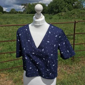Cotton Chambray Planet Space-1.3m