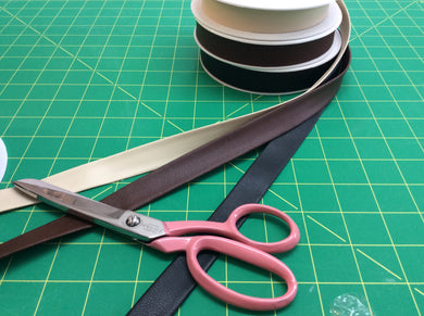 Textured Faux Leather Bias Binding