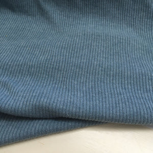Josie Ribbed Knit Fabric Melange Grey 2.6m