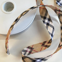 Burberry Type Check Cotton Bias Binding 20mm