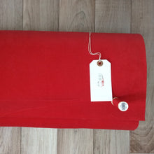 Poppy Red Velveteen Cord Fabric