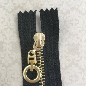 Metal Round Pull Non Separating Zipper