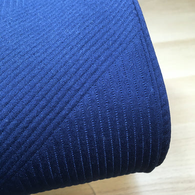 Navy Jacquard Double Knit Fabric
