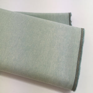Robert Kaufman Essex Yarn Dyed Aqua Linen Fabric