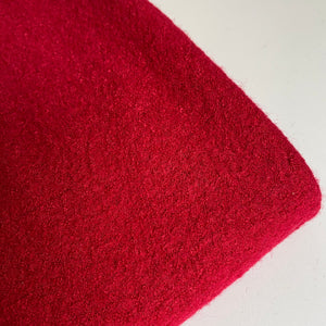 Sarah Boiled Wool Viscose Blend Red 0.5m