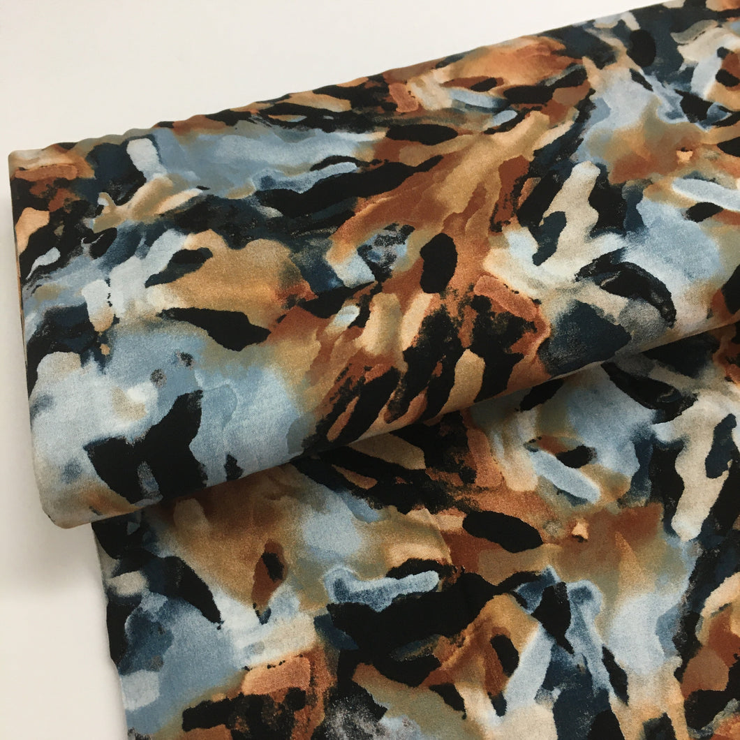 Radiance Camo Viscose Dress Fabric 1.35m