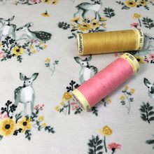 Doe a Deer Organic Cotton Jersey Fabric Roll End