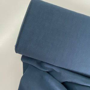 Sandwashed Textured Ramie Dressmaking Fabric Airforce Blue