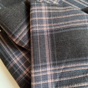 Helsinki Old Rose and Charcoal Grey Check