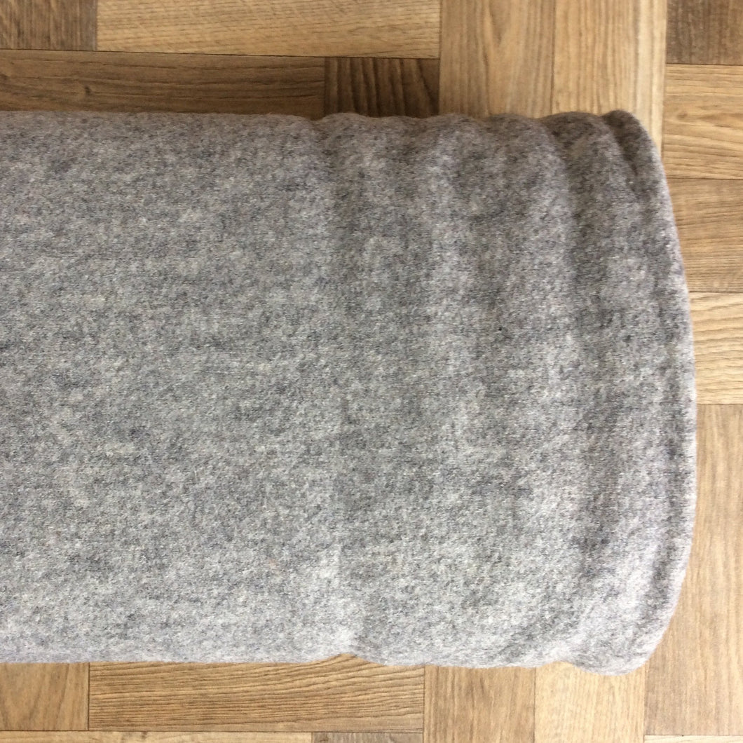 Melange Grey Pure Boiled Wool - 0.5m