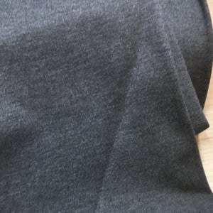 Dark Grey Melange Ponte Roma Fabric